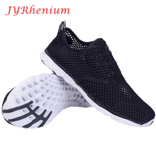 JYRhenium Plus Size Summer Running Shoes Sneakers Mesh Breathable Sport Shoes Men Women Beach Ultra Light Unisex Breathable