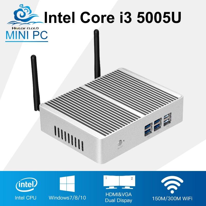 New Intel Core i3 5005u Barebone Mini PC windows 7/10 Dual Core With WIFI Mini Computer Desktop HTPC TV box kingdel new arrived dual lan mini pc htpc intel core i7 5500u dual core intel hd graphics 5500 dual hdmi wifi desktop computer