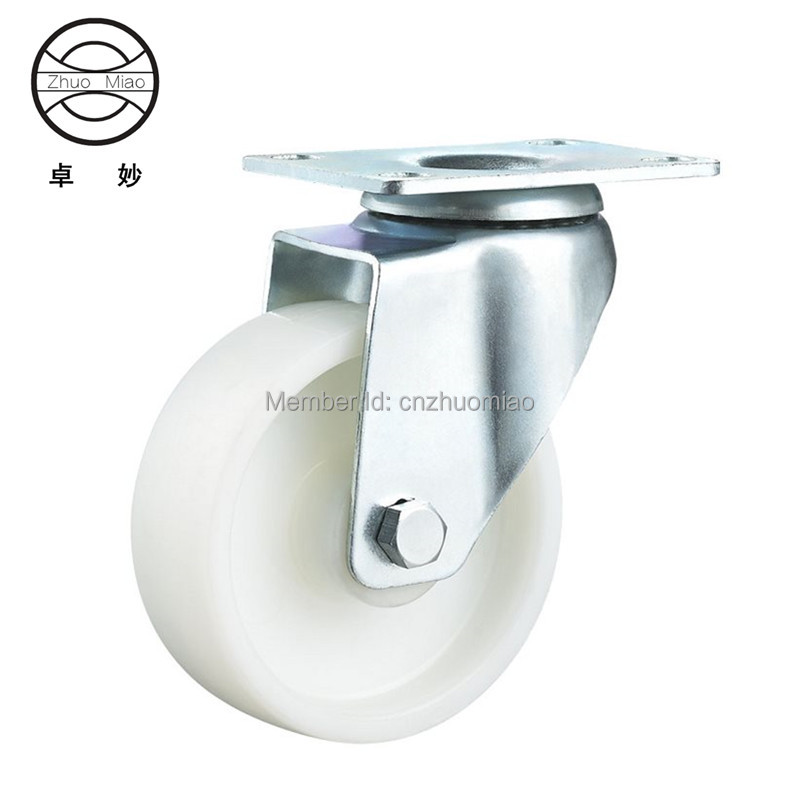 1PZ 3 inch high quality  Wearable Long Working Life fixed nylon medium duty caster and weel