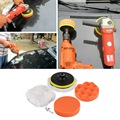6Pcs 5 inch large Buffing Pad Auto Car Polishing Wheel Kit With M10 Drill Adapter Buffer High Gross