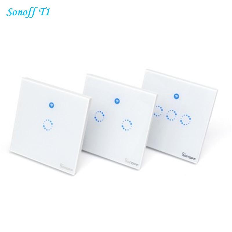 ITEAD Sonoff T1 UK Panel Smart Wifi Light Switch 1 2 3 Gang Wireless ...