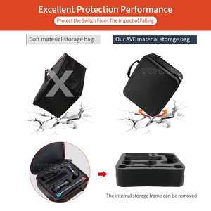 Image 4 - Nintend Swicth Deluxe EVA Travel Carry Case Big Capacity Storage Bag Protective Hard Bags for Nintendoswitch Game Accessories