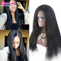 4x4 Silk Top Human Hair Lace Front Wigs Yaki Straight Unprocessed 7A Full Lace Human Hair Wigs In Stock Virgin Lace Front Wigs