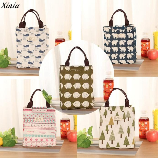 Waterproof Lunch Bag for Women kids Men Cooler Lunch Box Bag Tote canvas lunch bag