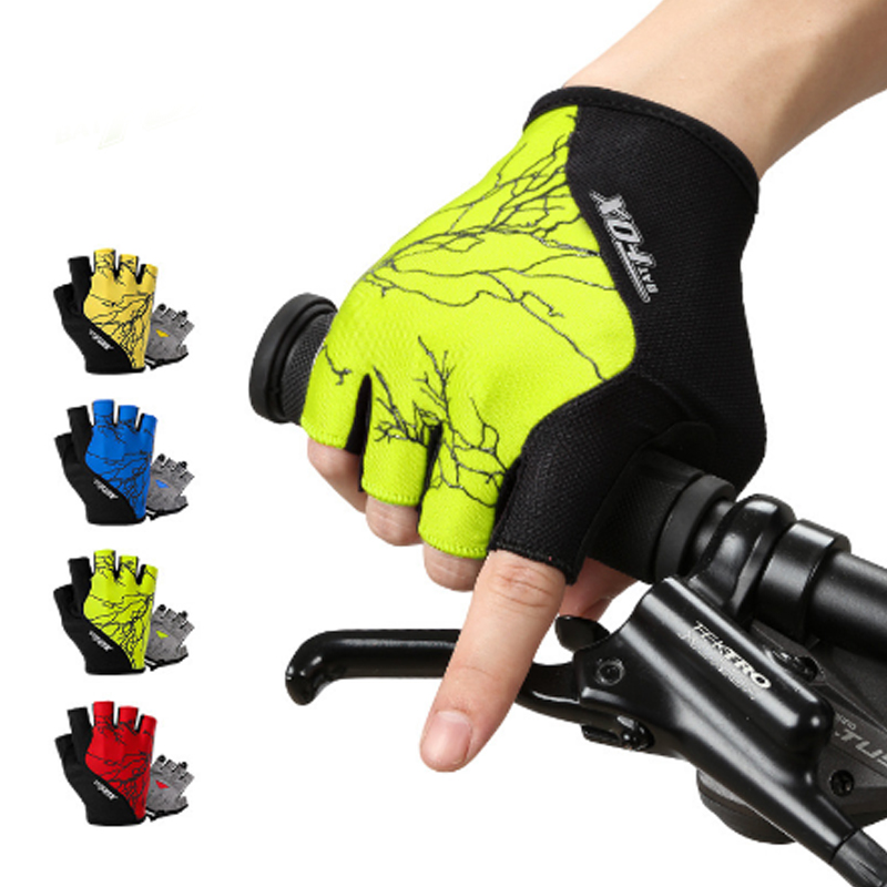 A06 Free Shipping Outdoor Sports Mountaineering Riding Lightning Speed Ventilation Damping Semi-finger Professional Gloves