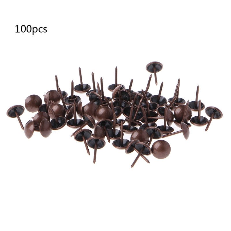 1cm Antique Copper Miniature Nail Set of 100 Brass
