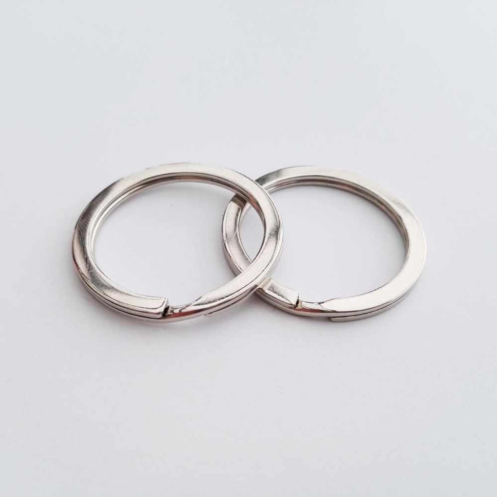 Diy de alta qualidade metal aço split o anel para chaveiro pingente descobertas fecho clipe gatilho fivela gancho id 1 polegada 25mm