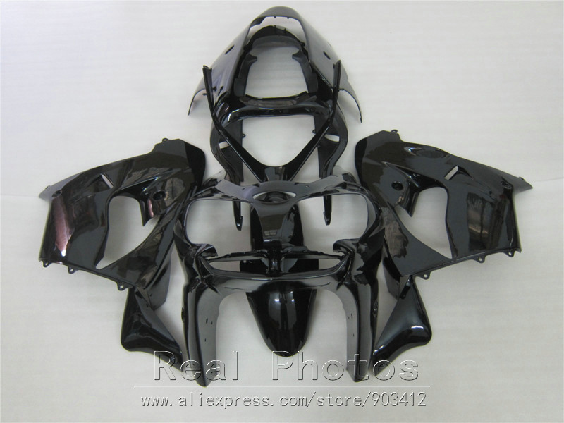 Moto Carénage kit pour Kawasaki Ninja ZX9R 2000 2001 brillant noir carénages set ZX9R 00 01 OY06