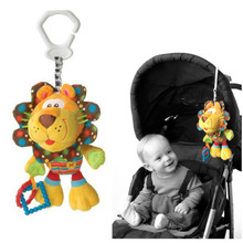 2016 Hot Sale New Baby Plush Toy Crib Bed Hanging Ring Lion Toy Soft Baby Rattle Early Educational Doll