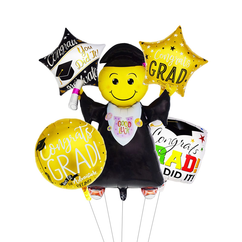 5pcs Graduation Balloons Gift Cartoon Globos Back To School Decorations Congratulation 2019 Doctor Balloon