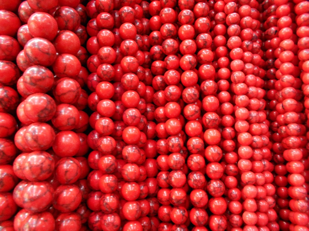 Sale High Quality Handmade Red Round Stone Beads Whs