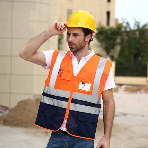 Workplace Safety Supplies Spardwear High Visibility Mesh Reflective Safety Vest Logo Printing Free Shipping