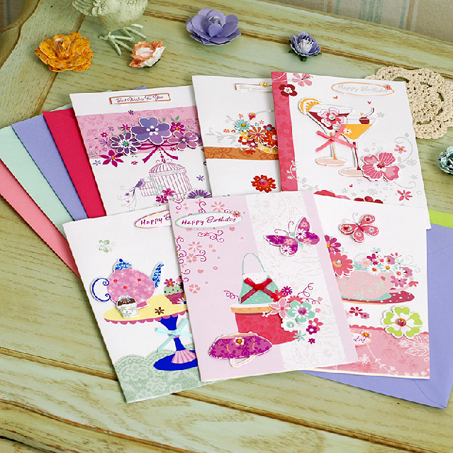 Greeting Cards Beautifully Korea Over New Customers To Send A Friend