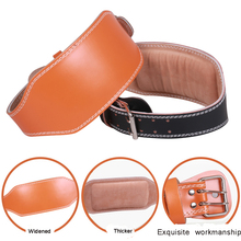 Padded Leather Lifting Belt For Men And Women With Back Support for Weightlifting And Bodybuilding belt GYM Fitness Crossifit
