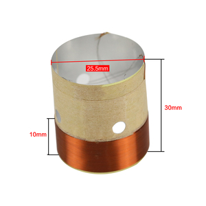 Image 5 - GHXAMP Speaker BASS Voice Coil 4inch 6.5 INCH 10 INCH 18 Inch Subwoofer Speaker Repair 8OHM White Aluminum Sound Air Outlet 2PCS