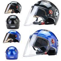 Reiten Fahrrad Sicherheit Caps für Täglichen Roller Motorrad Snowboard Radfahren Winddicht Sonnencreme Visier Doppel Objektiv Moto Helme Männer|Fahrradhelm|Sport und Unterhaltung -