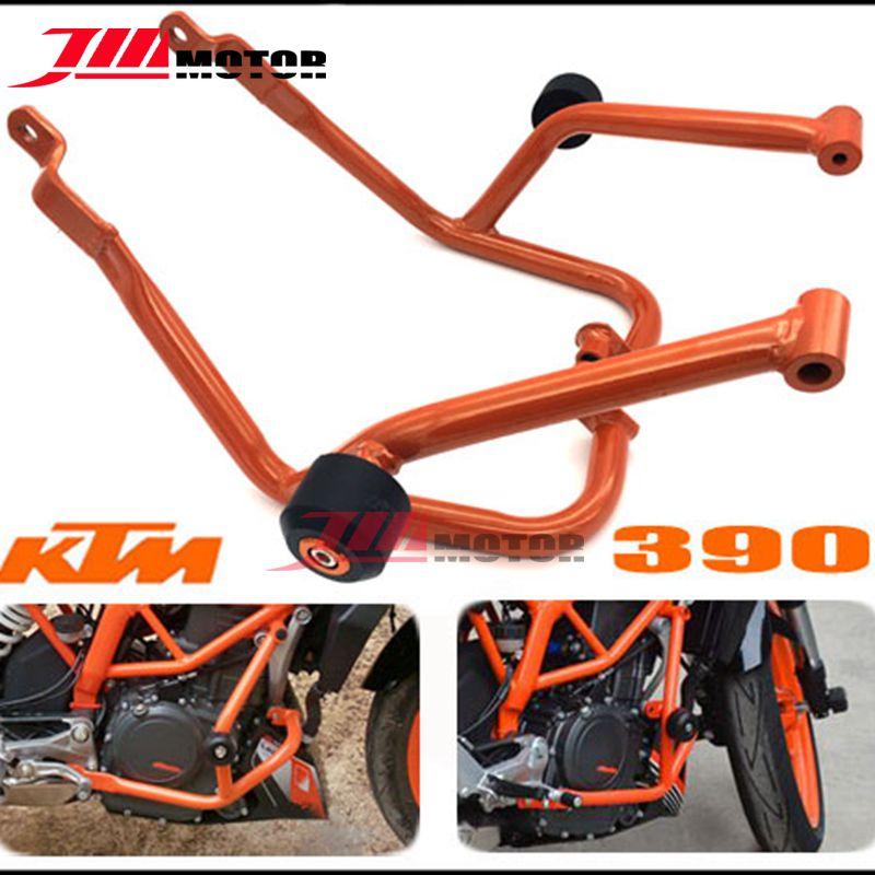 Motorcycle Crash Bars Frame Protector Protection Guard For KTM Duke 390/ KTM DUKE 200 Orange Color gadget