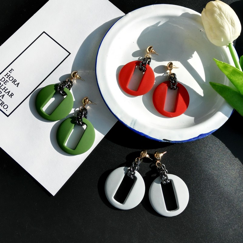 South Korea 39 s temperament retro earrings Geometric exaggerated atmosphere round earrings earrings stud earrings tide female in Stud Earrings from Jewelry amp Accessories