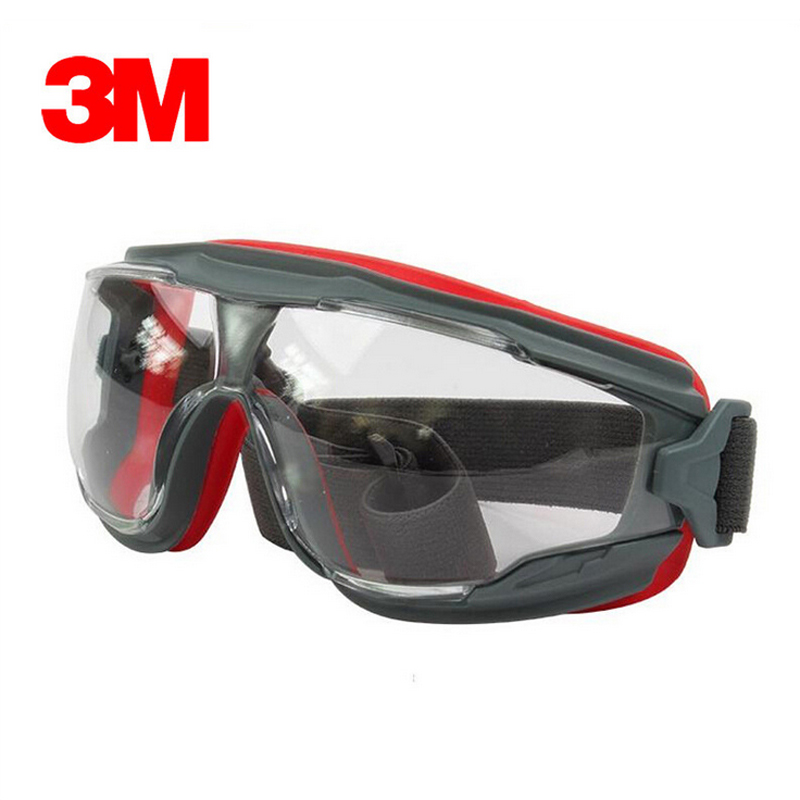 3M GA501 Anti-Impact Anti Chemical Splash Safety Glasses Goggle Sports Bicycle Economy Clear Anti-Fog Lens Eye Protection Labor