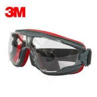 3M GA501 Anti-Impact Anti chemical splash Safety Glasses Goggle Sports Bicycle Economy clear Anti-Fog Lens Eye Protection Labor