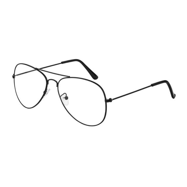 8829b8ad866 Fashion Sunglasses Women Brand Designer Metal Gold Frame Transparent Clear  Lens Plain Glasses Men Classic Aviation Eyeglasses