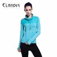 FLANDIS Yoga Shirt Hooded Long Sleeves Sport Shirt Women Running Jogging Clothes Gym Tops