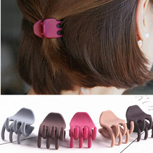 10pcs New Grind arenaceous Crab caught clip Fashion women hair ornaments girl clip ponytail holder accessories Headdress flower