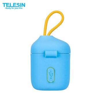 TELESIN ALLIN BOX 3 в 1 двойное зарядное устройство SD кардридер чехол для хранения + 2 шт. NPW50 батарея для A6000, A6500, A6300 аксессуары для камеры