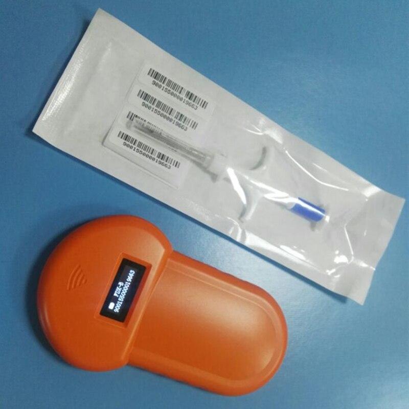 ISO11785/84 FDX-B Puce Pour Animaux de compagnie Scanner, animaux RFID Tag chien Lecteur lecteur Basse Fréquence Lecteur RFID Portable avec 1 transpoder