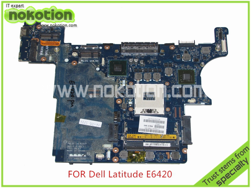 0H2YDF CN-0H2YDF for Dell latitude E6420 Laptop motherboard PAL51 LA-6592P Intel QM67 GeForce NVS4200M graphics Mainboard