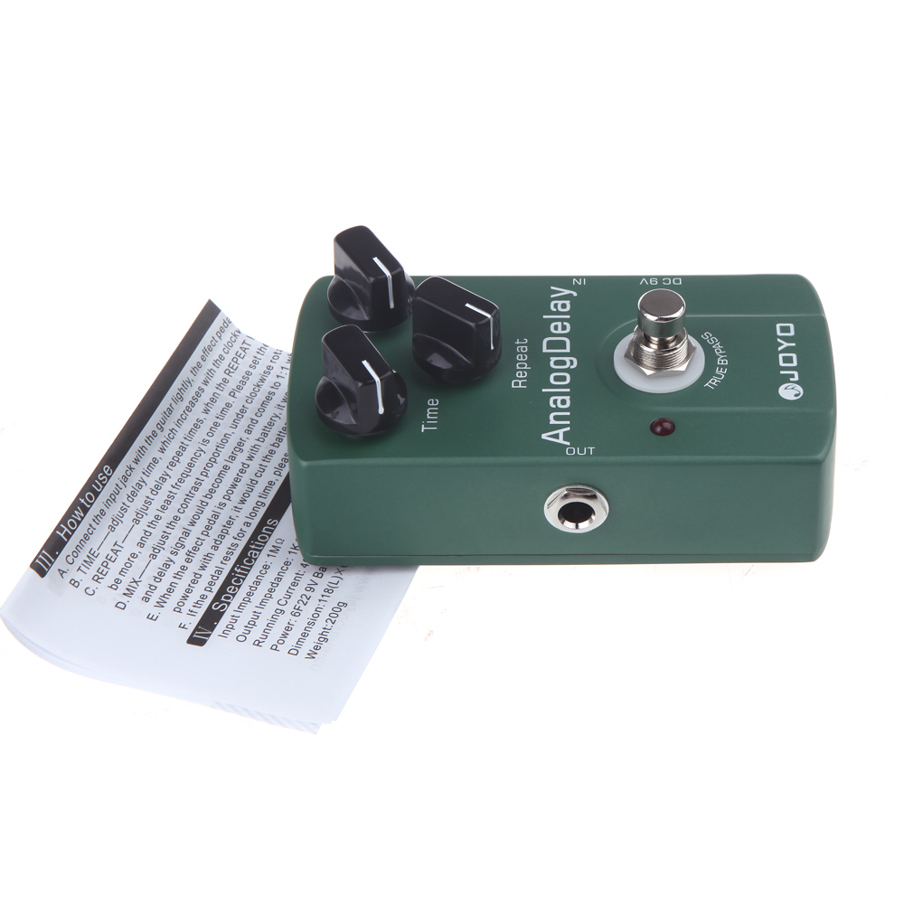 High Quality Analog Electric Guitar Effect Pedal True Bypass Delay Guitar Stompbox Integrant in Guitar Parts Accessories from Sports Entertainment
