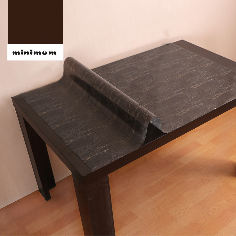 Mode Imitation marbre rectangle nappe noir Étanche pvc verre doux nappes moderne Bureau pad table à manger couverture