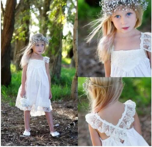 Robe De demoiselle d'honneur blanche a-ligne solide filles première Communion robe offre spéciale Vestido De Comunion