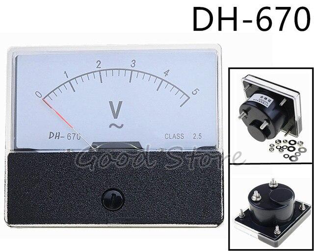 DH-670 50 v 100 v 200 v 250 v 300 v 450 v 500 v AC Medidor de Painel Analógico voltímetro bitola
