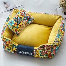 JORMEL سميكة الحيوانات الأليفة سرير للكلاب قابل للغسل لينة متوسطة كبيرة كبيرة سرير كلب منزل للإزالة شتاء دافئ صغير جرو المتسكعون الفاخرة