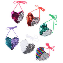 Mini Wallet 2019 Cute Women Girls Mermaid Sequins Coin Purse Messenger Bag Handbags