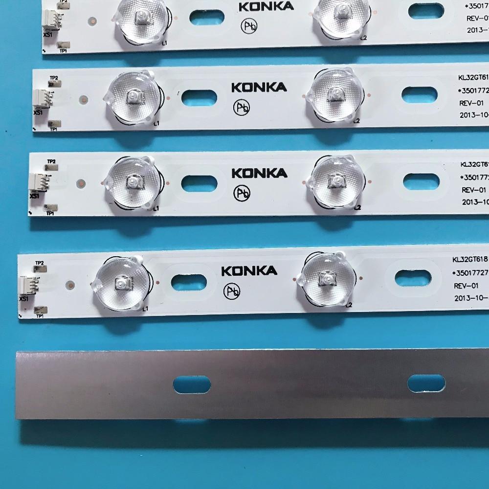 Image 4 - 100%New KONKA KL32GT618 LED backlight 35017727 10leds 64.4cm 1set=2 pieces-in LED Bar Lights from Lights & Lighting