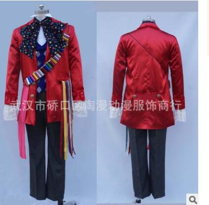 Alice in Wonderland 2 Mad Hatter Cosplay Costume Adult Costumes for Halloween Carnival Party Cosplay Costumes for Men