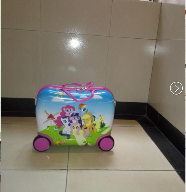 Free shipping My Little Pony  fashion luggage  kids trolley suitcase  animation  luggage with rolls  EVA  travel suitcase