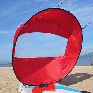 """Image 3 - 42""""/108 cm SAIL Foldable Kayak Boat Wind Sail Canoe Sup Paddle Board with Clear Window Drifting Boating Accessory"""