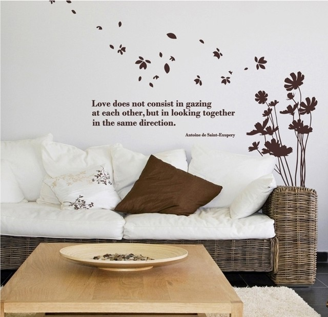 2015 Free Shipping Plant Sticker Flower Design Wall Decor Bountyless Aesthetic Fashion Tv Sofa Home Decals