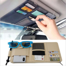 1 pieces Car sunshade card, eye clip, zipper, mobile phone certificate storage and hanging bag