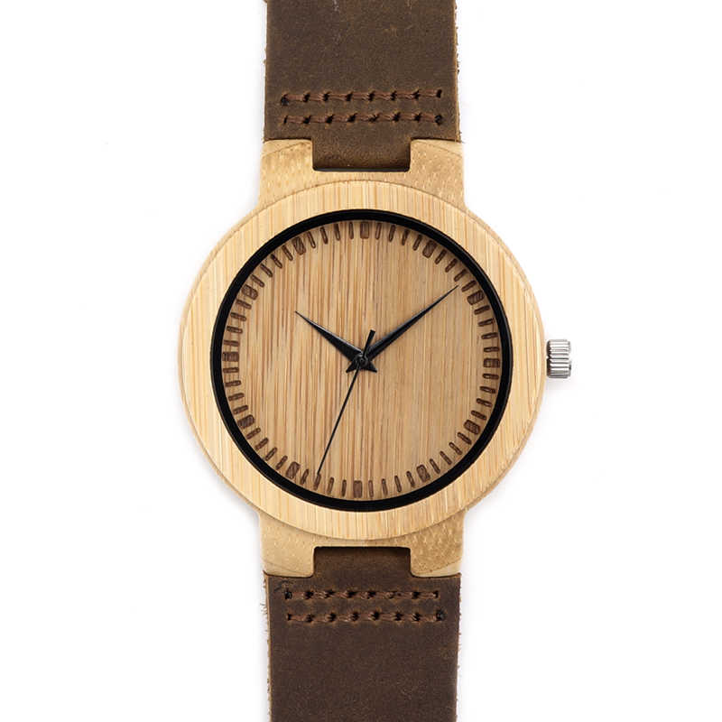 2017 BOBO BIRD Mens Bamboo Watches Handmade Japan Movement Watch Genuine Leather strap Wood Wristwatches relogio masculino C-D13 bobo bird brand new sun glasses men square wood oversized zebra wood sunglasses women with wooden box oculos 2017