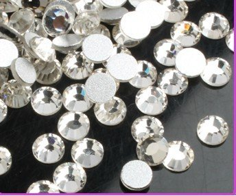 SS6(2mm)--High Shine 1440pcs Crystal white/silver Nail rhinestones high quality  cellphone decoration kit