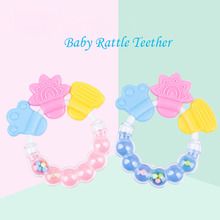 Newborn Baby rattles Teether Toy Teeth Biting For Babies Rattle toddler Bed Bell Silicone Handbell Jingle Cartoon