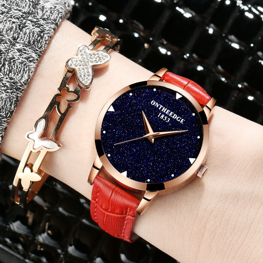 Fashion Starry sky Wrist Watch Women's Watches Ladies Luxury Brand Girls Quartz Watch Female Clock Relogio Feminino Montre Femme fashion womens watch girls casual flower dial leather band quartz wrist watches female clocks montre femme relogio feminino d