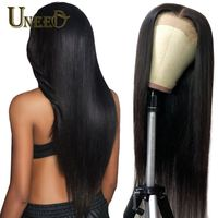 Peruvian Lace Front Human Hair Wigs For Women 4x4 Inch Remy Hair Straight Lace Front Wigs With Baby Hair Full End Natural Black