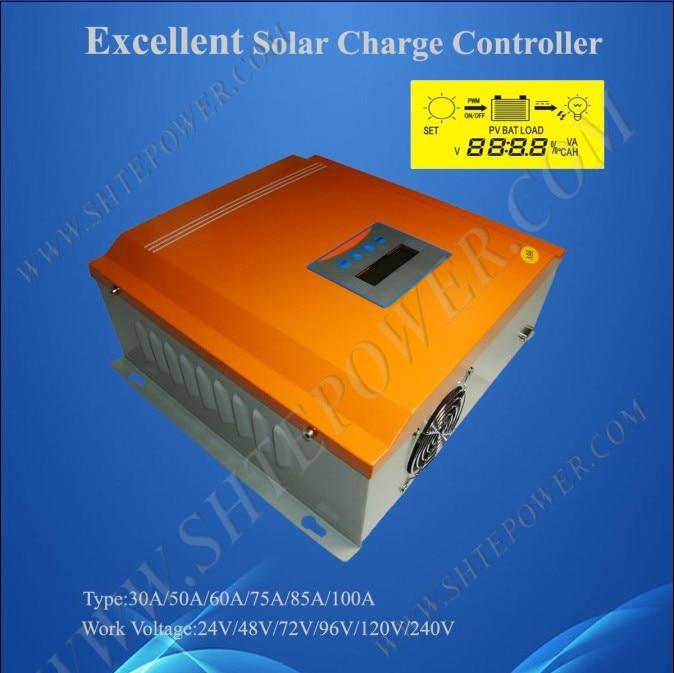 Excelente pwm controlador de carga solar 60a 96 v