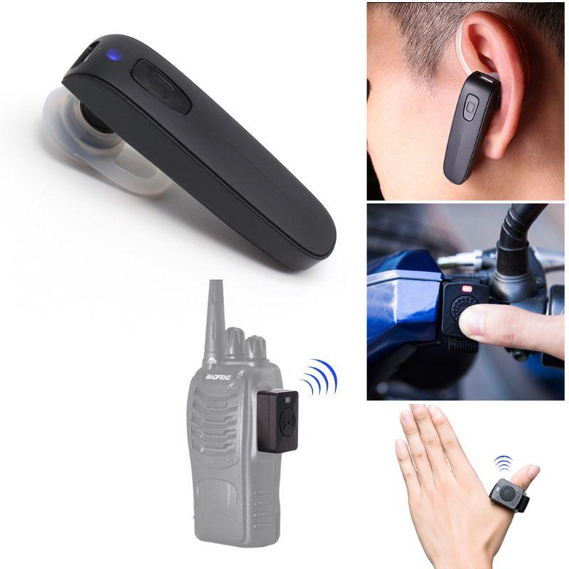 Hands-free Bluetooth Headset Wireless Headphone For Baofeng Kenwood K Type Radio