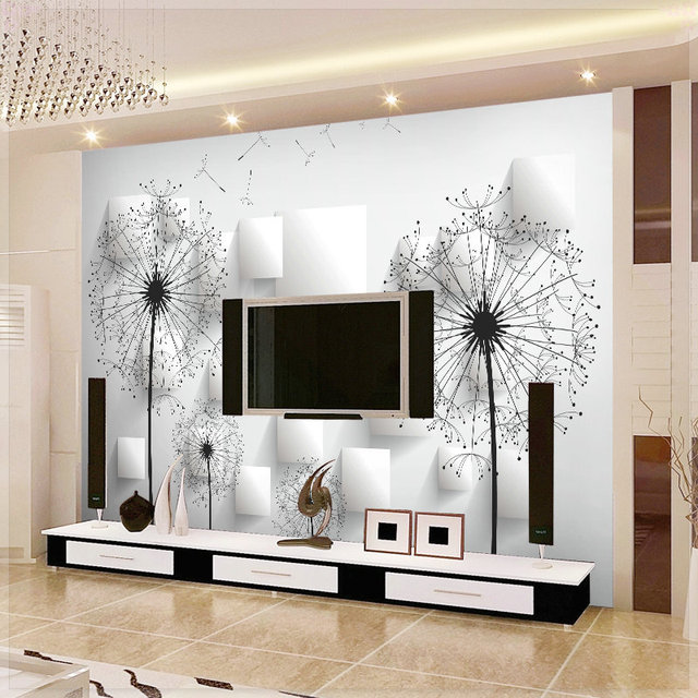 Mural Tv Background Wall Non Woven Wallpaper Brief Modern Flower Tapete